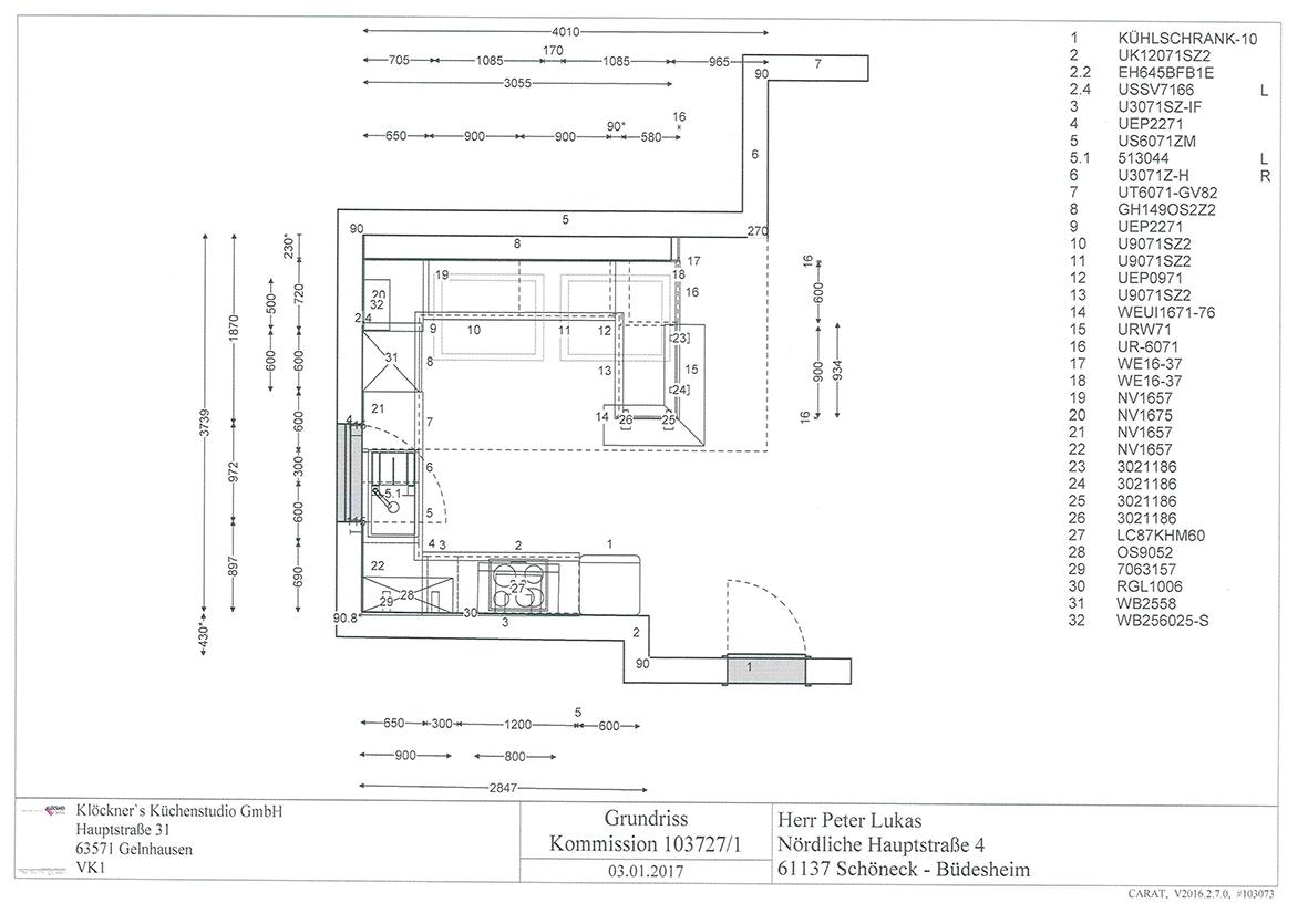 Küchenplan 01 planung